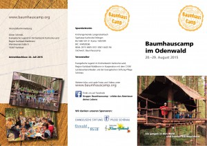 Baumhauscamp Flyer 2015