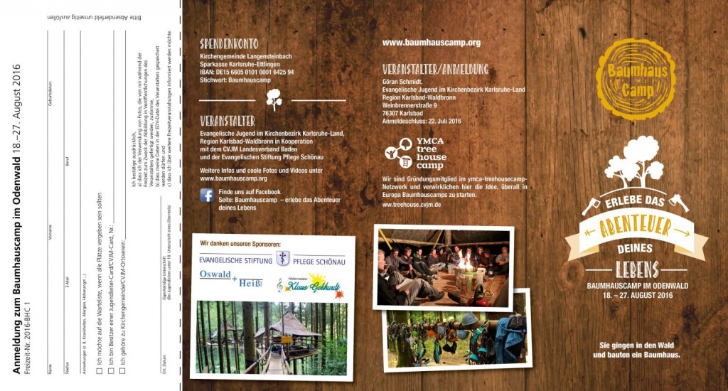 Baumhauscamp Flyer 2016